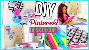 Chevron Desk Accessories by Diy Desk Decor Pinterest U0026 Tumblr Inspired Youtube
