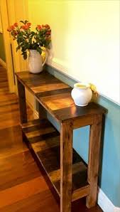 Front Hallway Table Antique Pallet Entry Hallway Console 130 Inspired Wood Pallet