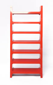 italian red abs modular bookcase by jo je bins for vardani design