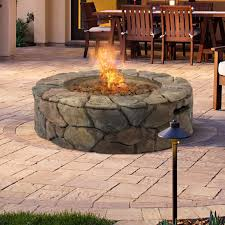 round propane fire pit table natural gas fire pit insert round propane table alderbrook faux wood