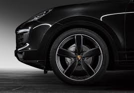 porsche black porsche cayenne sport classic wheel finished in high gloss black