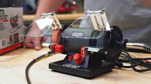 ozito 120w bench grinder with flexible drive product video youtube