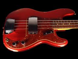 apple red 2017 fender precision 1964 custom shop 64 p bass relic candy