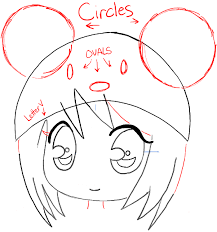 trendy drawing anime steps step07 chibi manga mouse hat
