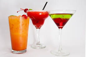 mixed drinks tequila strawberry margarita and a sour