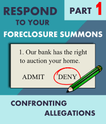 step by step how to respond to a foreclosure summons u0026 complaint