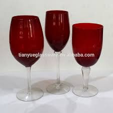 hotel glassware red colored wine glass with clear stem buy hotel