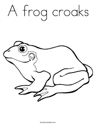 a frog croaks coloring page twisty noodle