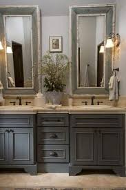 country bathroom designs country bathroom gray washed cabinets mirrors with