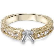 diamond 1 4ct engagement ring setting vintage antique style semi