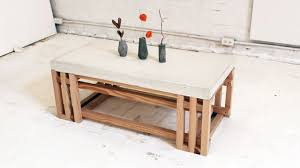 Plans For Building A Wood Coffee Table by Homemade Modern Episode 15 Diy Concrete Wood Coffee Table