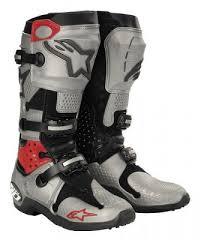 motocross boots alpinestars tech 10 motocross boots silver