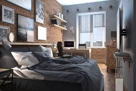 loft apartments in moscow u2022 brick wall u2022 bedroom design u2022 bachelor