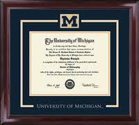 of michigan spirit medallion diploma frame in encore