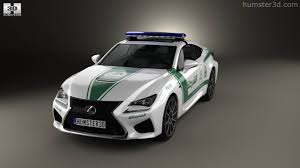 360 view of lexus rc f police dubai 2015 3d model hum3d store