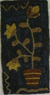 Wool Hand Hooked Rugs Early Style Primitive Hand Hooked Rug Hooking Hand Dyed Wool