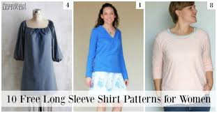 10 free long sleeved shirt patterns for women