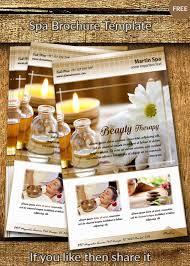 free spa brochure vector template