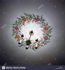 poland zalipie church sacristy blanket lights flower wreath