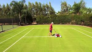 painting lines on a grass court youtube