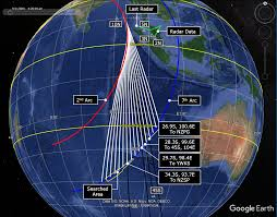 possible mh370 paths along great circles the disappearance of mh370