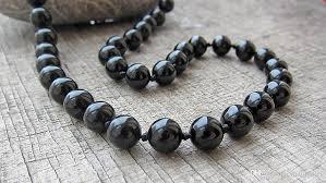 black agate necklace images 2018 long necklace 8mm black onyx black agate necklace mens jpg