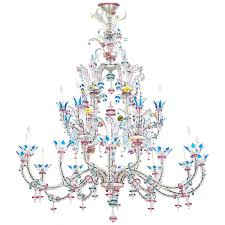 italian ca u0027 rezzonico chandelier in the galliano ferro style at