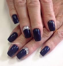 gorgeous navy blue nail art designs goluputtar com