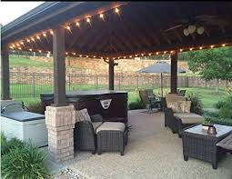 Clear Patio Lights 25ft Outdoor G40 Globe String Lights Vintage Backyard Patio