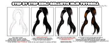 anime hairstyles tutorial semi realism hair tutorial sai by jassycoco on deviantart