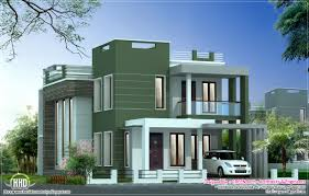 contemporary villa elevation in 2100 sq feet house design plans