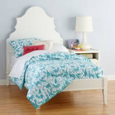 kids beds white oversized headboard with beveled curves twin