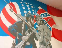 History Behind The Confederate Flag Va Hospital Repaints Confederate Flag In War History Mural The