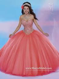 coral quince dress the marys bridal beloving 4677 quinceanera dress has a strapless