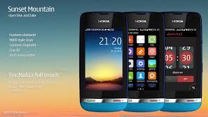 themes nokia asha 308 download sunset mountain theme asha 311 310 309 308 306 305