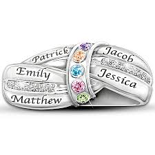 personalized birthstone ring faith and family jewelry