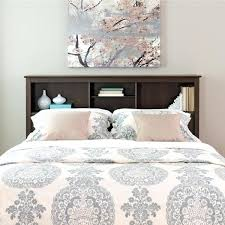 bed frame with bookcase headboard espresso full queen bookcase