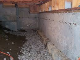 interior foundation footing drain for crawl space allied