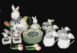 bunny tea set bunny rabbit 20 pc tea set mercuries ad 3056220 addoway