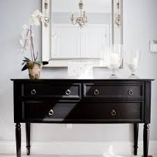 Black Console Table Black Console Table With Brass Ring Pulls Design Ideas