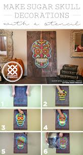 Make A Sugar Skull Decoration With A Stencil Stencil Stories