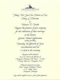 wedding announcement a wedding on granite island