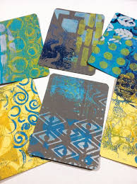 71 best gelli cards images on gelli printing plate