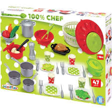 cuisine enfant ecoiffier grand coffret cuisine 100 chef 47 pièces ecoiffier pas cher à prix