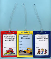 Hallway Pass Hall Pass Set Of 6 Plastic Hall Pass Cards With Clips