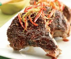 coriander rubbed pork chops with orange hoisin sauce finecooking