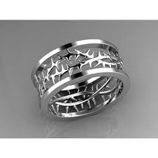 mens wedding band designers crown of thorns wedding band by designer christopher michael