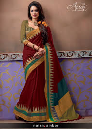 best cotton aura netra pure silk cotton saree at best price rr gandhi