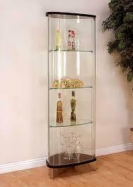 glass corner curio cabinet cabinet lighting elegant glass curio cabinets with lights design