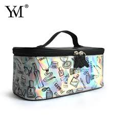 Professional Makeup Carrier China Shiny Pvc Professional Cosmetic Bag Makeup Bag Customized On